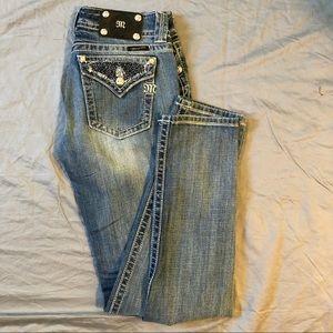 Miss Me skinny bead rhinestone embellished jeans